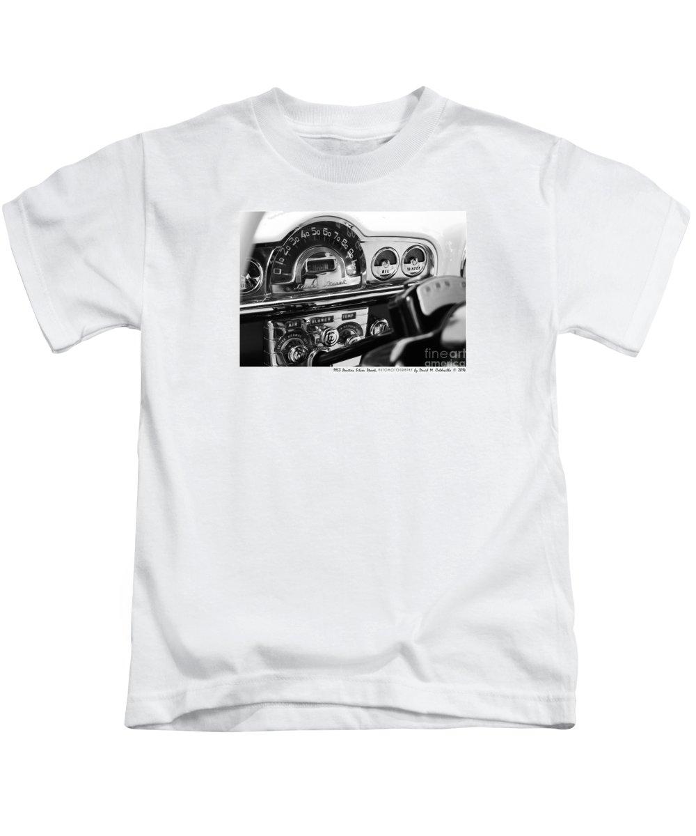 Car Cars Chrome Auto Autos Automobile Automobiles hot Rod hot Rods muscle Car muscle Cars Vintage Transportation 1953 Pontiac Silver Streak Kids T-Shirt featuring the digital art 1953 Pontiac Silver Streak by David Caldevilla
