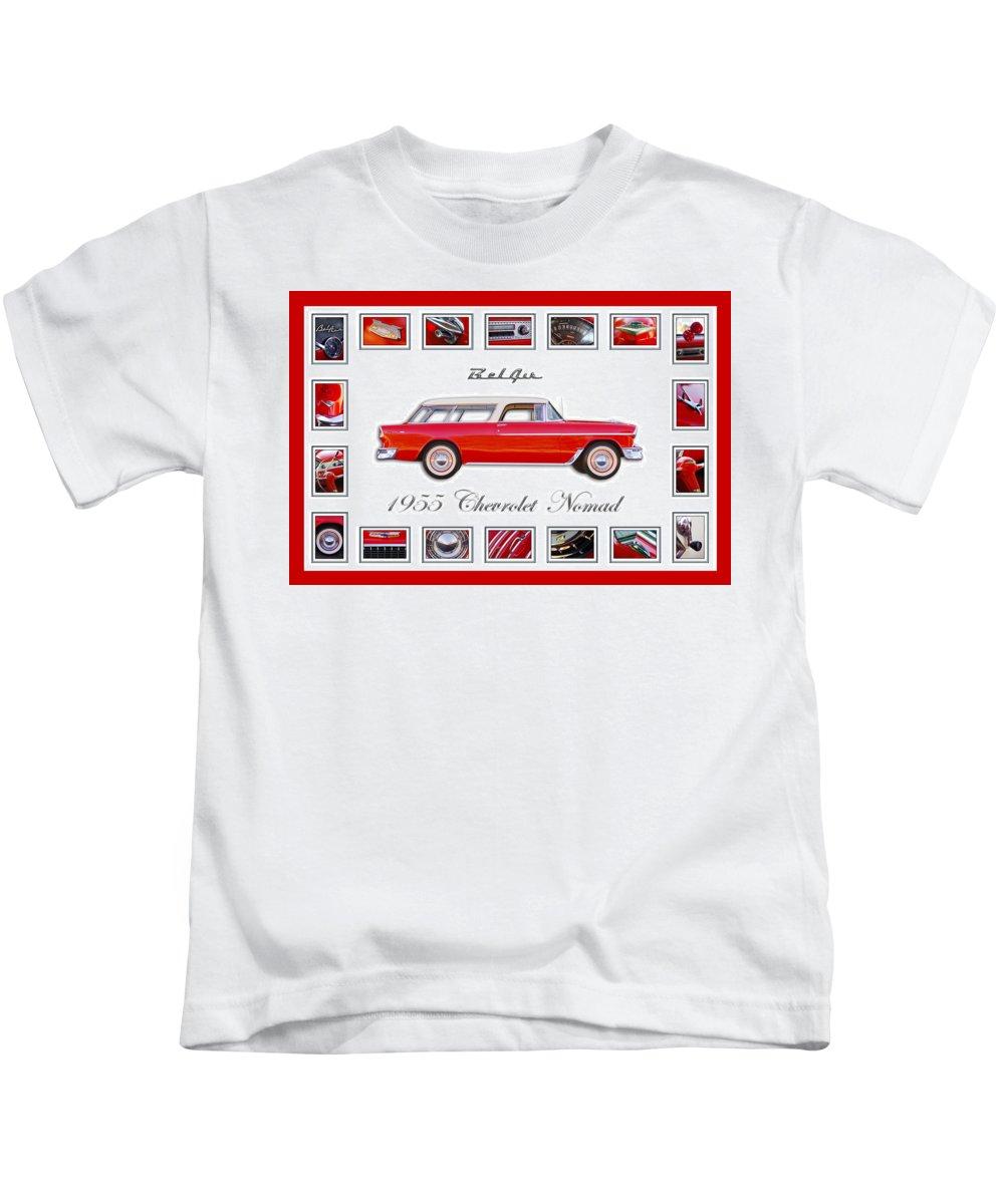 1955 Chevrolet Belair Nomad Art Kids T-Shirt featuring the photograph 1955 Chevrolet Belair Nomad Art by Jill Reger