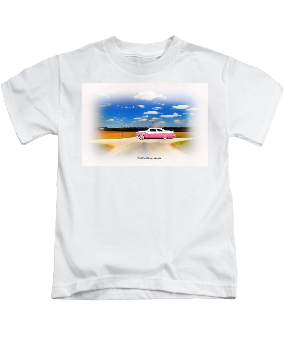 1955 Ford Kids T-Shirt featuring the photograph 1955 Ford Crown Victoria Sweet by Randall Branham
