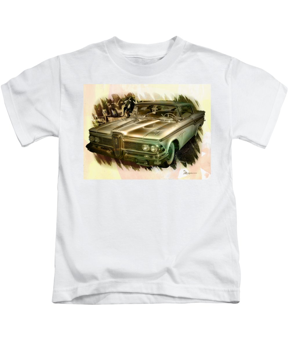 Edsel Kids T-Shirt featuring the photograph 1959 Edsel by Ericamaxine Price