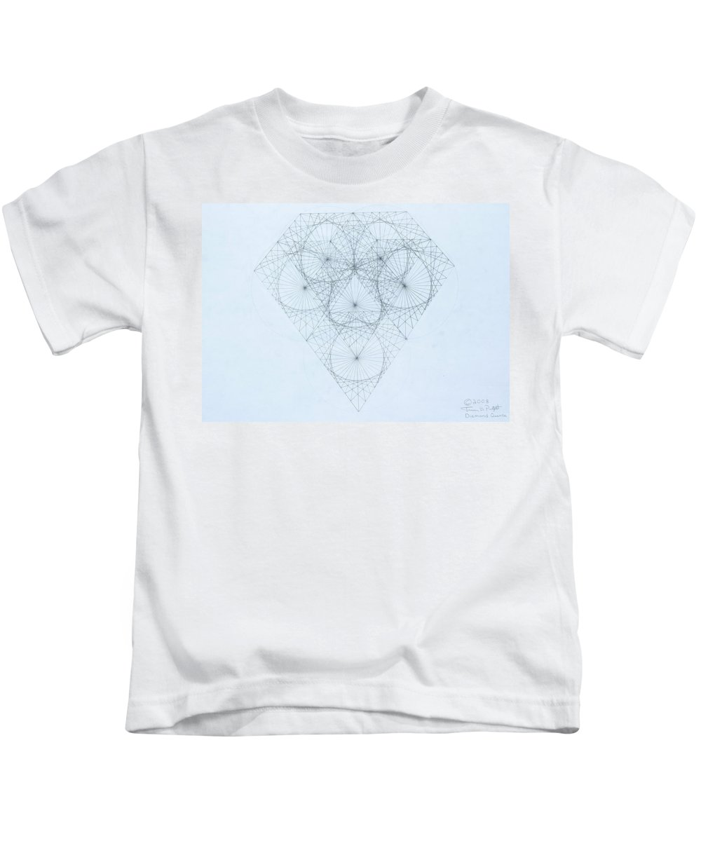 Jason Padgett Kids T-Shirt featuring the drawing Diamond Quanta by Jason Padgett