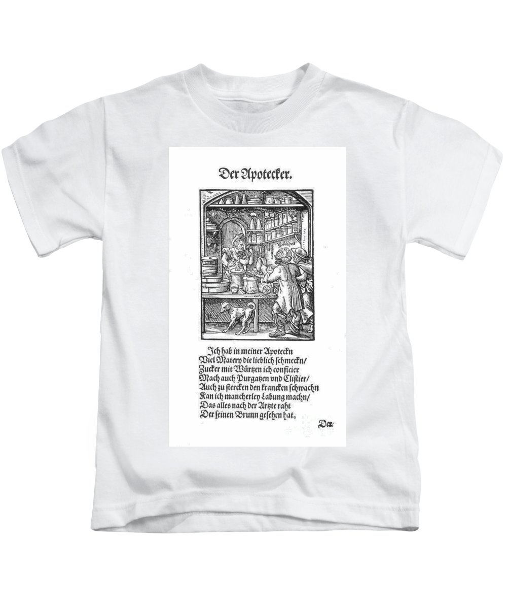 1568 Kids T-Shirt featuring the photograph Apothecary, 1568 by Granger