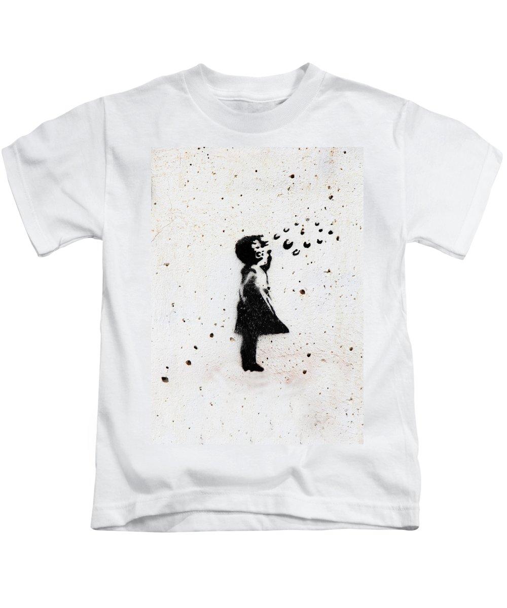 Bubbles Kids T-Shirt featuring the photograph Bubbles by Munir Alawi