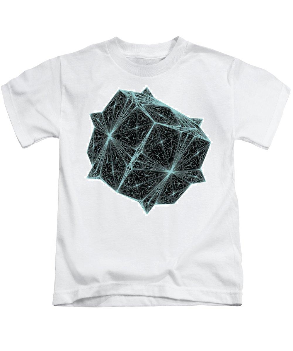Diamond Kids T-Shirt featuring the digital art Diamond Crystal by Nenad Cerovic