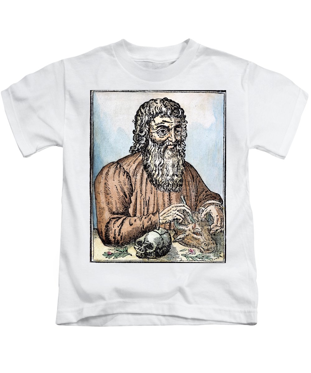16th Century Kids T-Shirt featuring the photograph Hippocrates (c460-c377 B.c.) by Granger