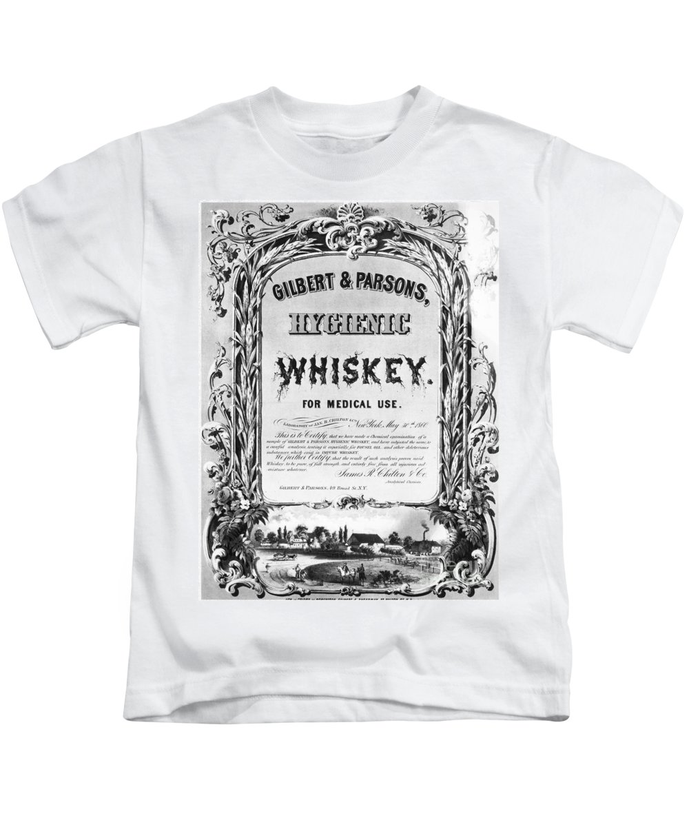 1860 Kids T-Shirt featuring the photograph Patent Medicine Poster by Granger