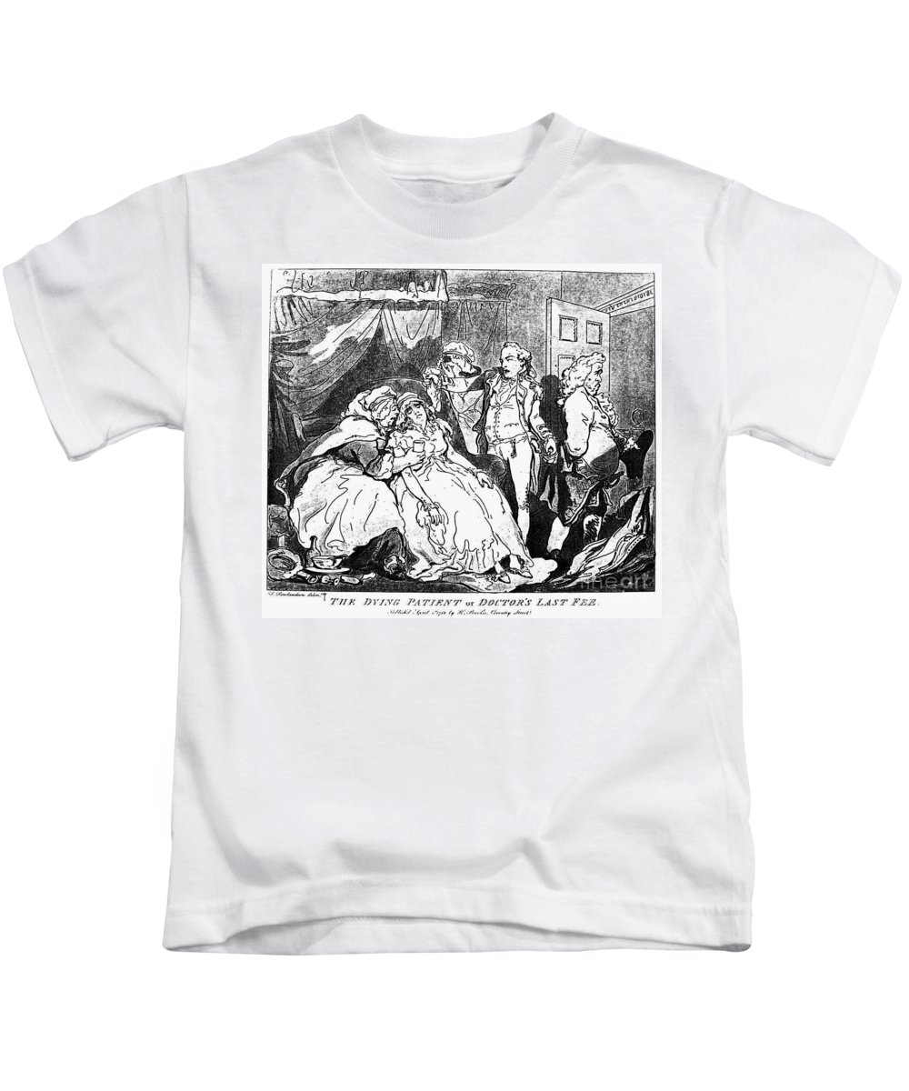 1786 Kids T-Shirt featuring the photograph Rowlandson: Quack Doctor by Granger