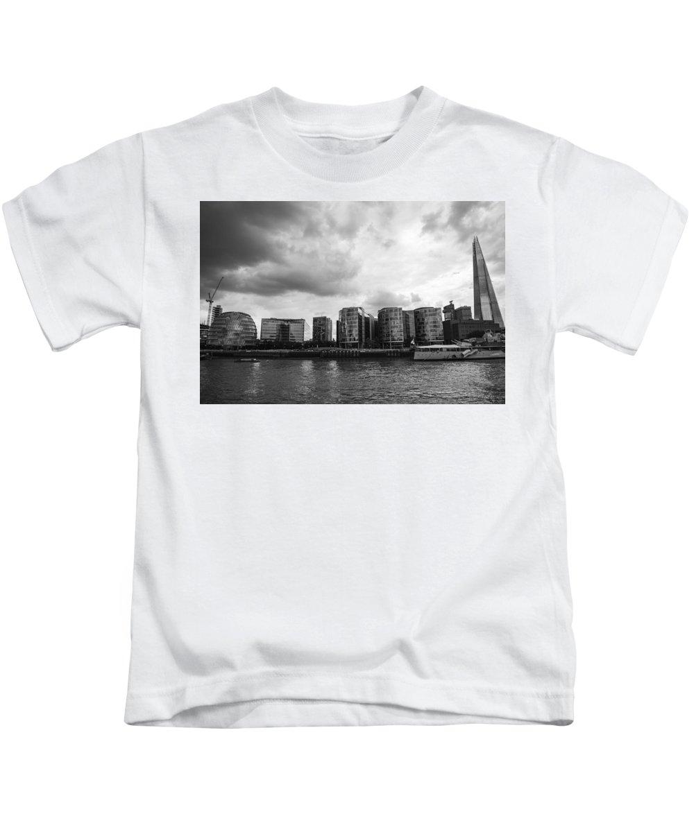Shard Kids T-Shirt featuring the photograph The Shard by Chevy Fleet