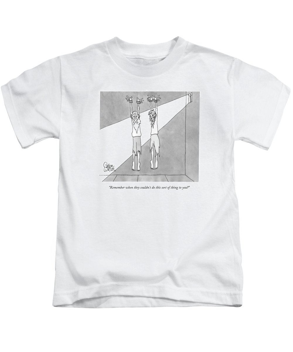 Remember When They Couldn't Do This Sort Of Thing To You Kids T-Shirt featuring the drawing Remember When They Couldn't Do This Sort Of Thing by Gahan Wilson