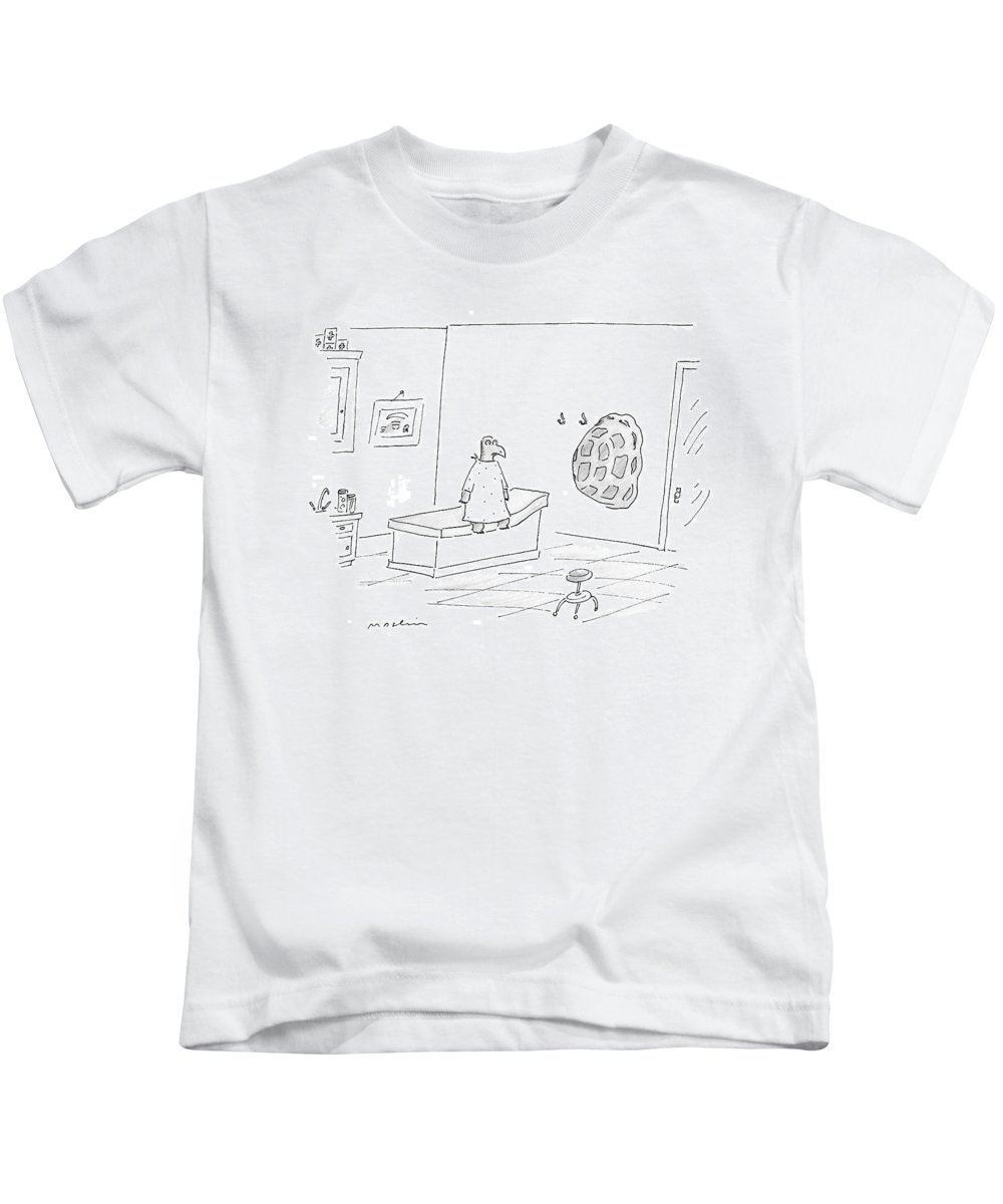 Turtle Kids T-Shirt featuring the drawing New Yorker September 11th, 2006 by Michael Maslin