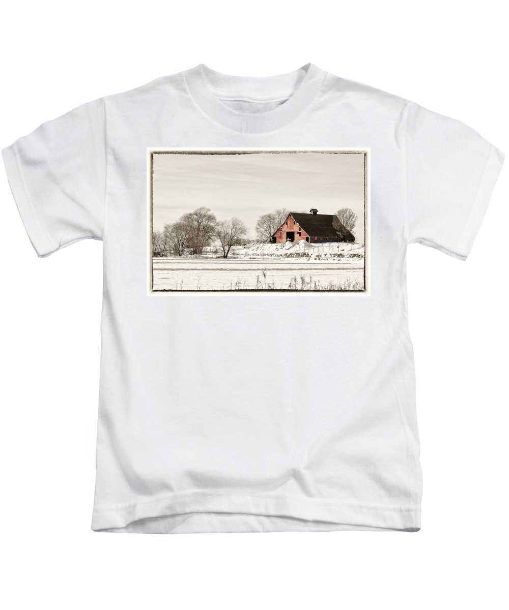 Barn Kids T-Shirt featuring the photograph Idaho Falls by Image Takers Photography LLC