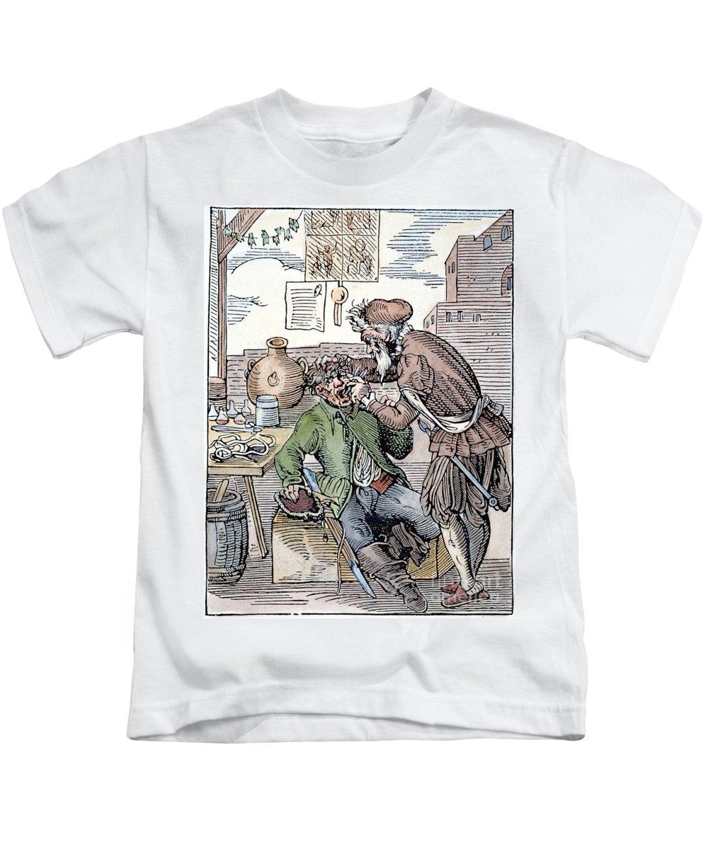 1568 Kids T-Shirt featuring the photograph Amman: Dentist, 1568 by Granger