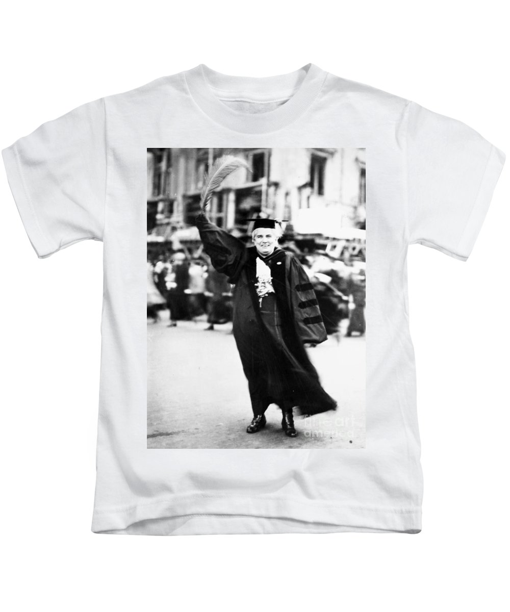 1910 Kids T-Shirt featuring the photograph Anna Howard Shaw by Granger