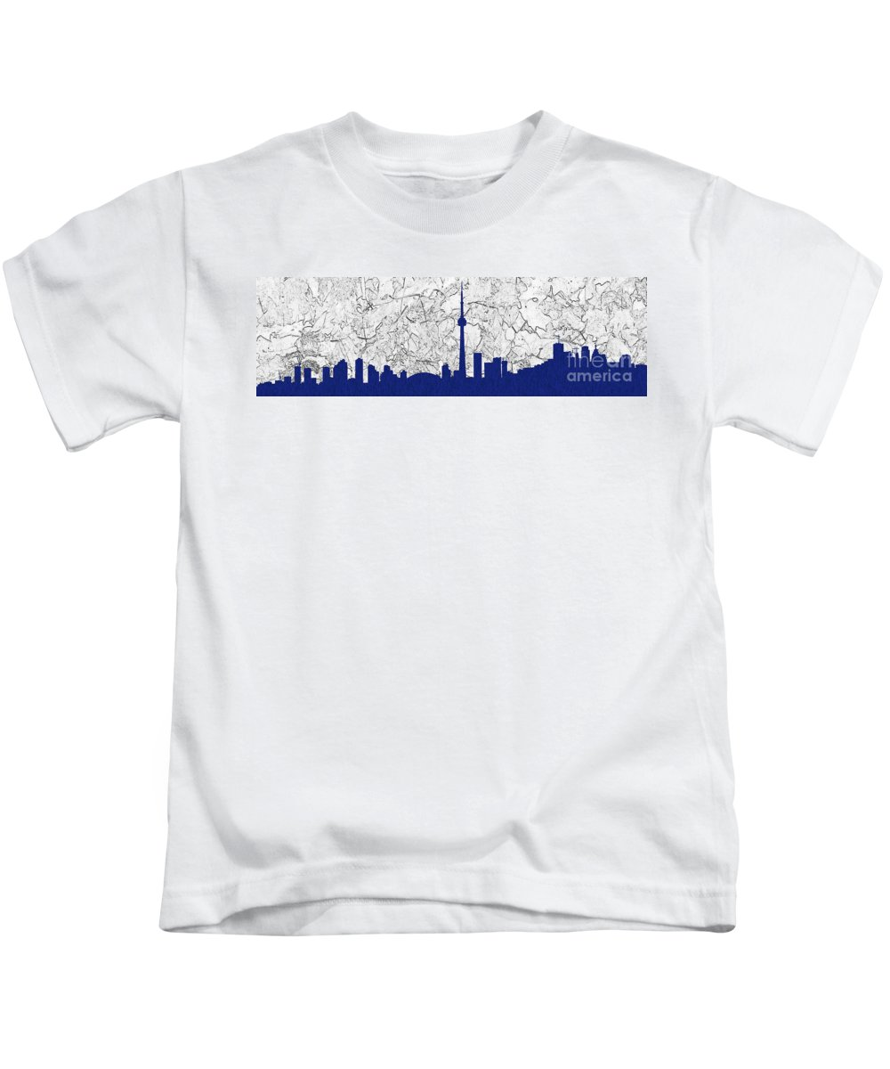 Toronto Kids T-Shirt featuring the photograph Toronto Skyline by Les Palenik