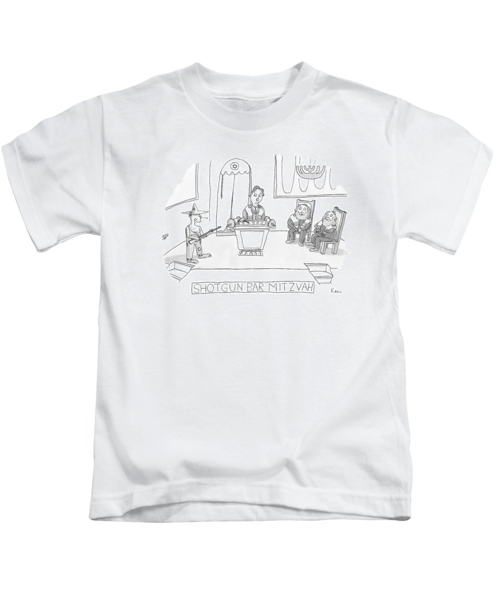Jewish Kids T-Shirt featuring the drawing New Yorker April 23rd, 2007 by Zachary Kanin