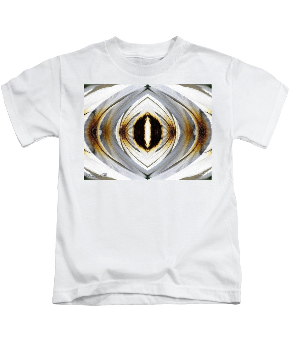 Mccombie Kids T-Shirt featuring the painting African Moon Abstract by J McCombie