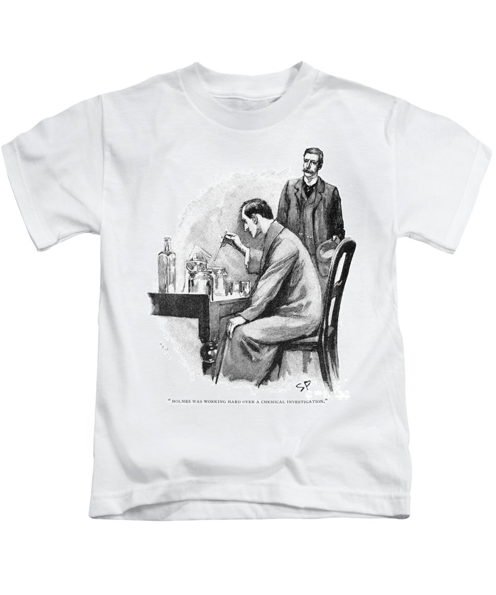1893 Kids T-Shirt featuring the photograph Doyle: Sherlock Holmes by Granger
