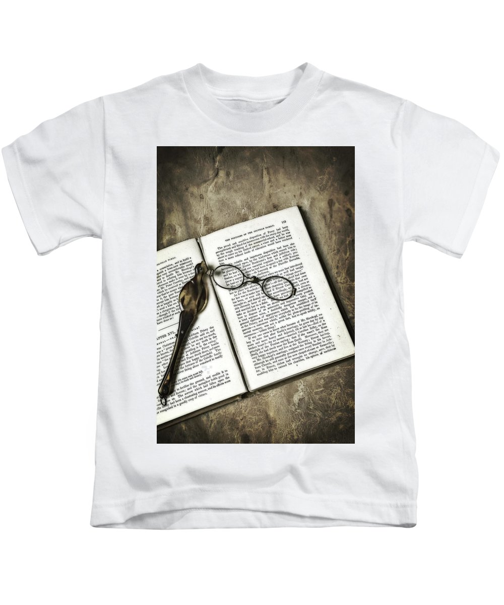 Lorgnette Kids T-Shirt featuring the photograph Time To Read by Joana Kruse