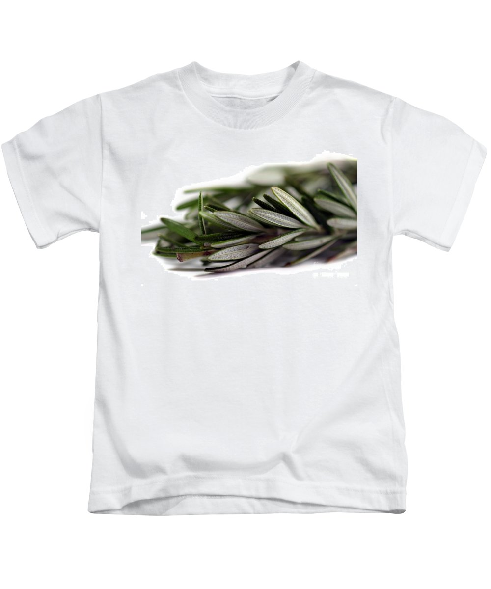 Aroma Kids T-Shirt featuring the photograph Rosemary by Henrik Lehnerer