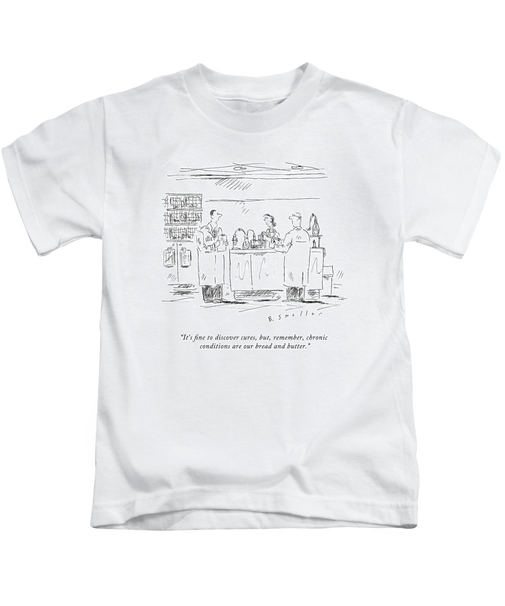 Science Kids T-Shirt featuring the drawing It's Fine To Discover Cures by Barbara Smaller