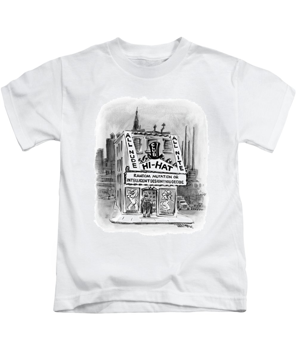 Urban Life Drawings Kids T-Shirts