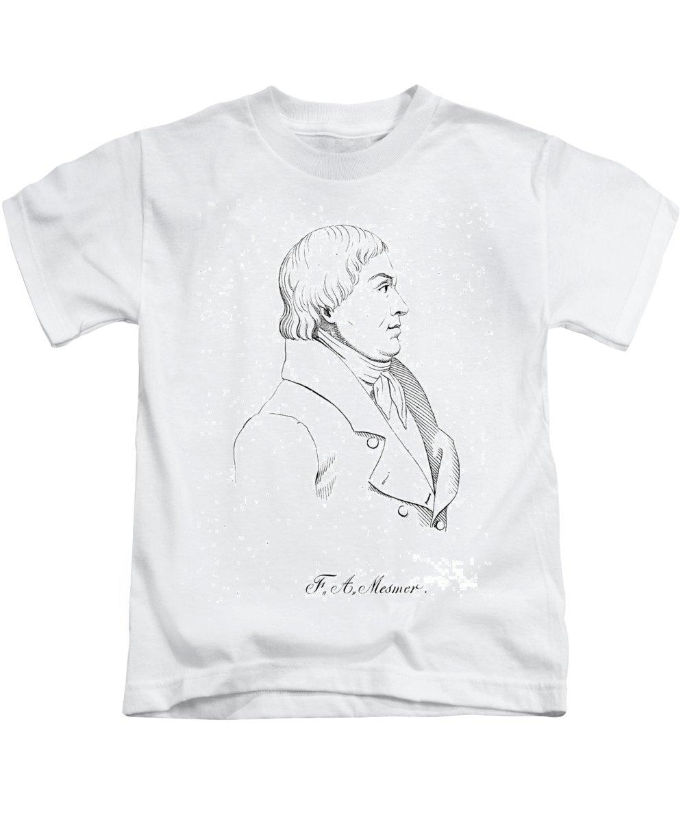 1824 Kids T-Shirt featuring the photograph Franz Mesmer (1734-1815) by Granger