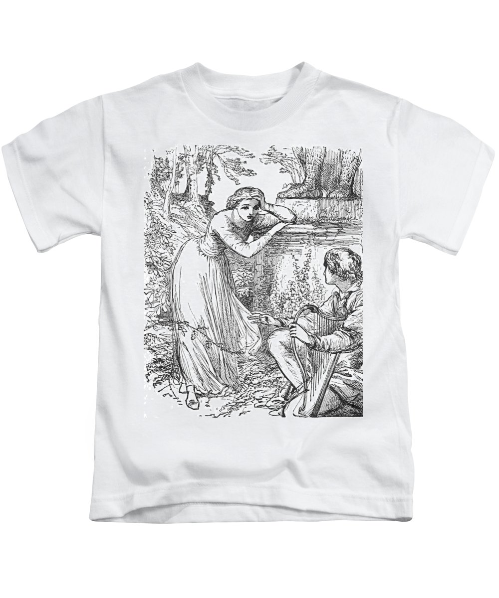 Holiday Kids T-Shirt featuring the photograph Love Lyrics And Valentine Verses, 1875 by British Library