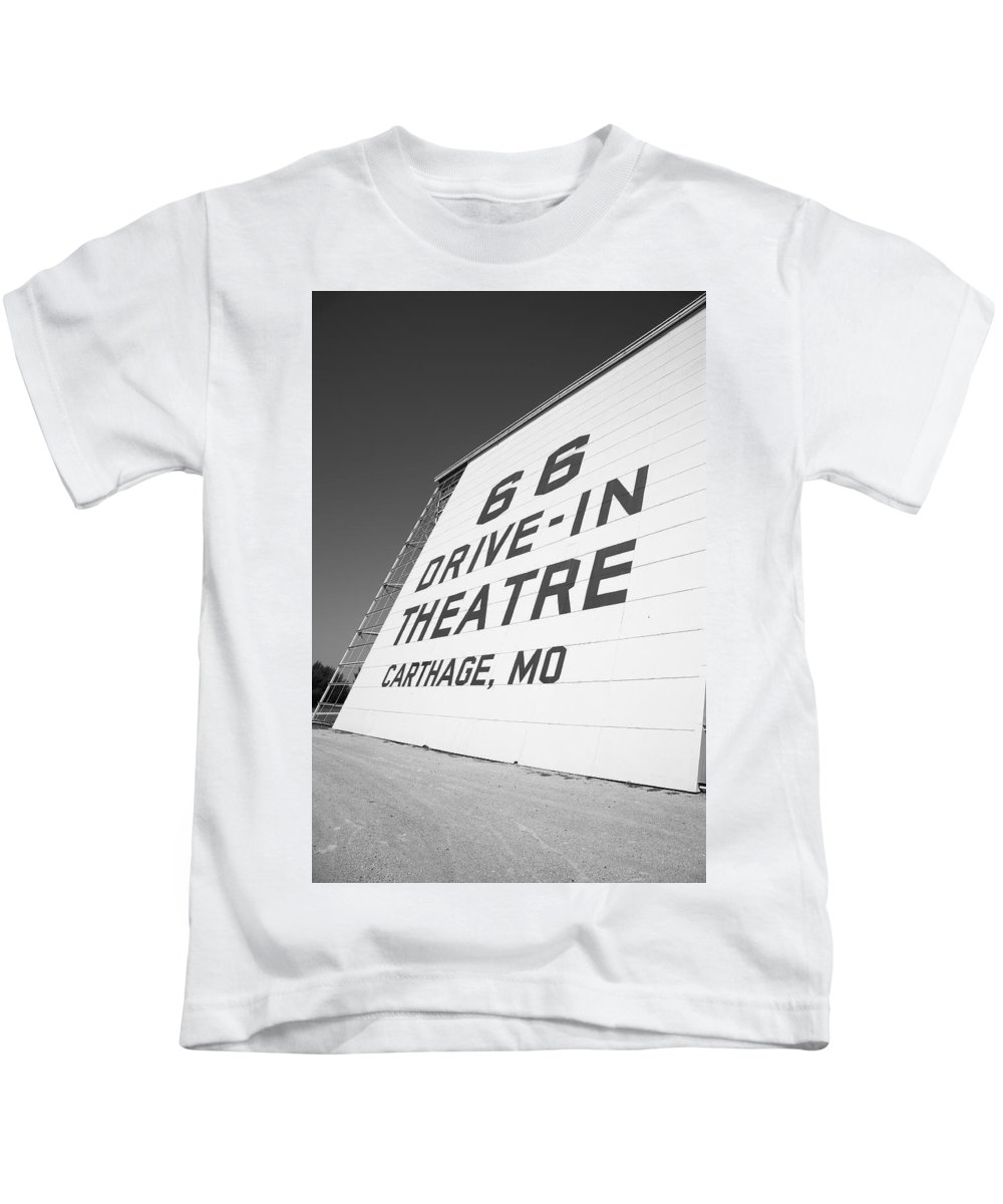 66 Kids T-Shirt featuring the photograph Route 66 Drive-in Theatre by Frank Romeo