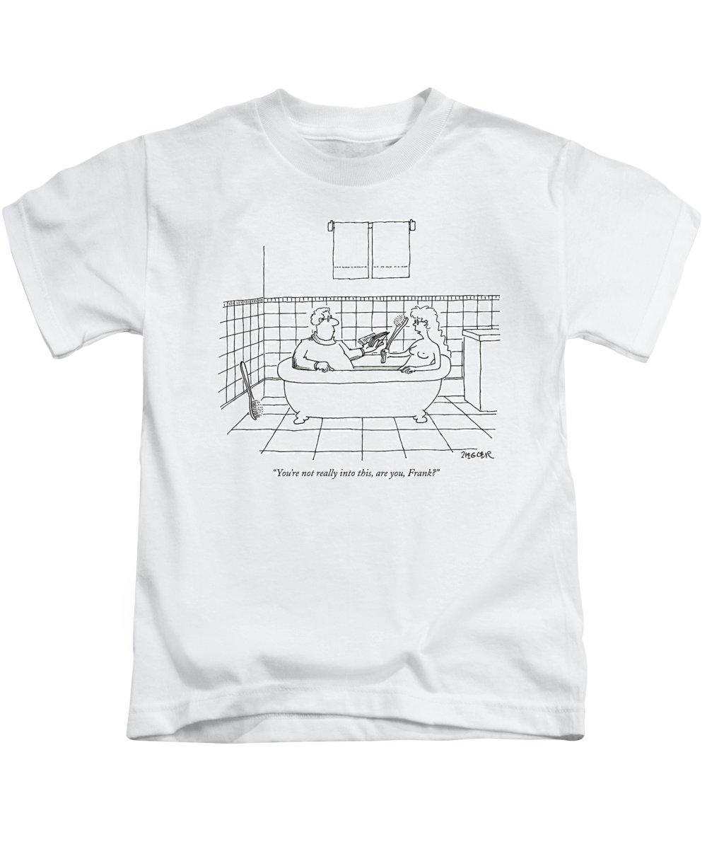 Kinky Kids T-Shirt featuring the drawing You're Not Really Into This by Jack Ziegler