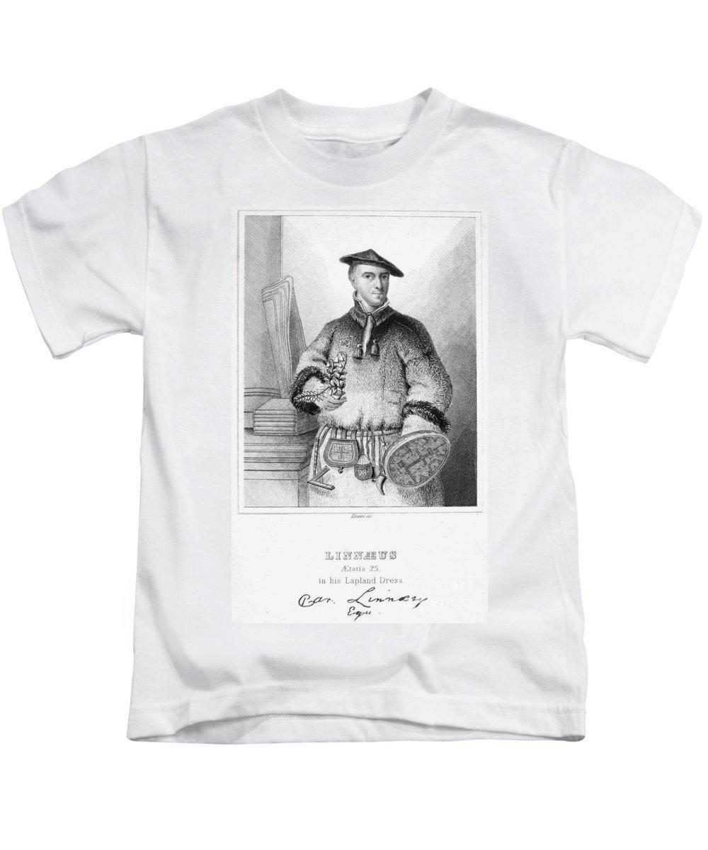 18th Century Kids T-Shirt featuring the photograph Carolus Linnaeus (1707-1778) by Granger