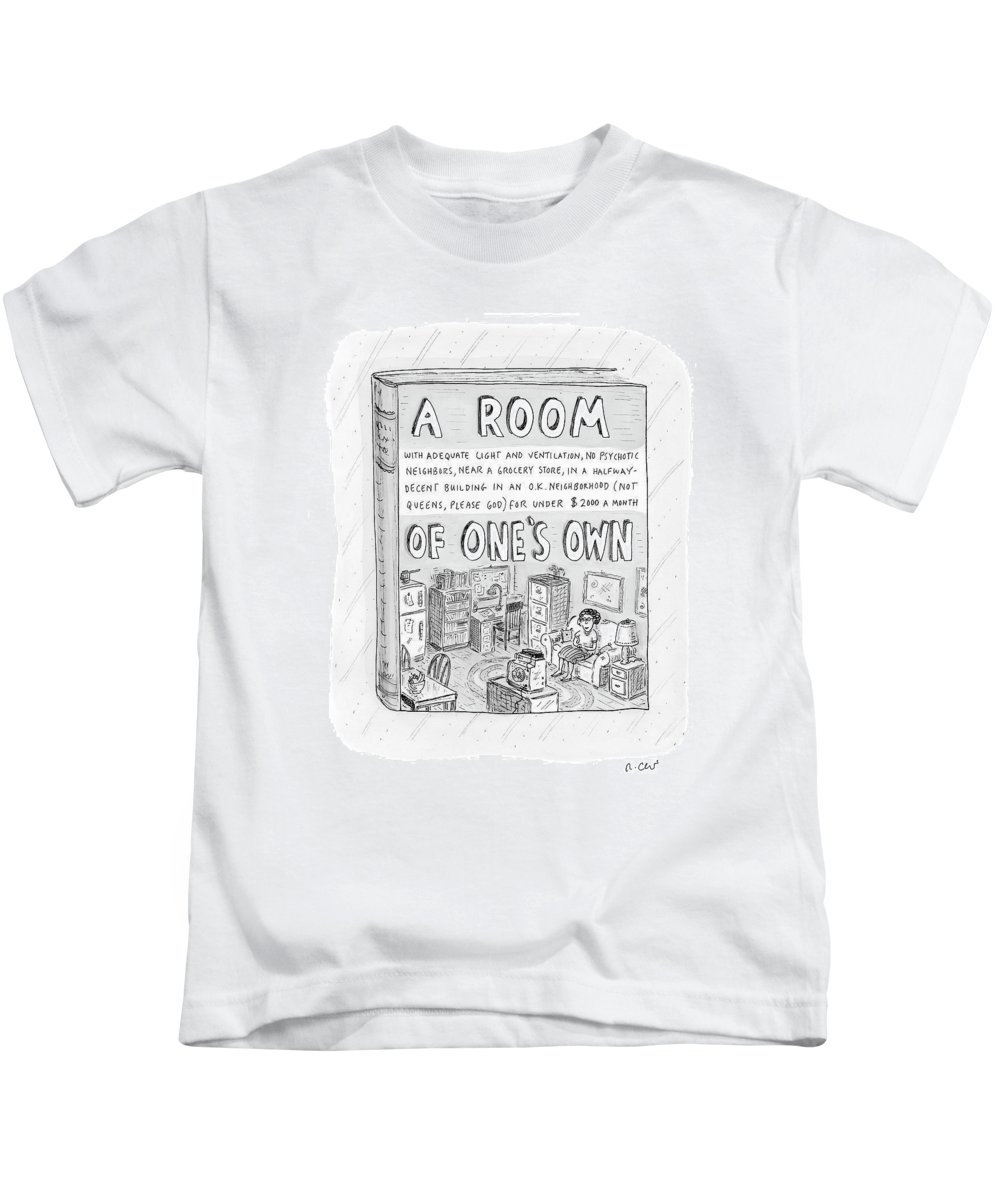 Book Kids T-Shirt featuring the drawing New Yorker March 26th, 2007 by Roz Chast