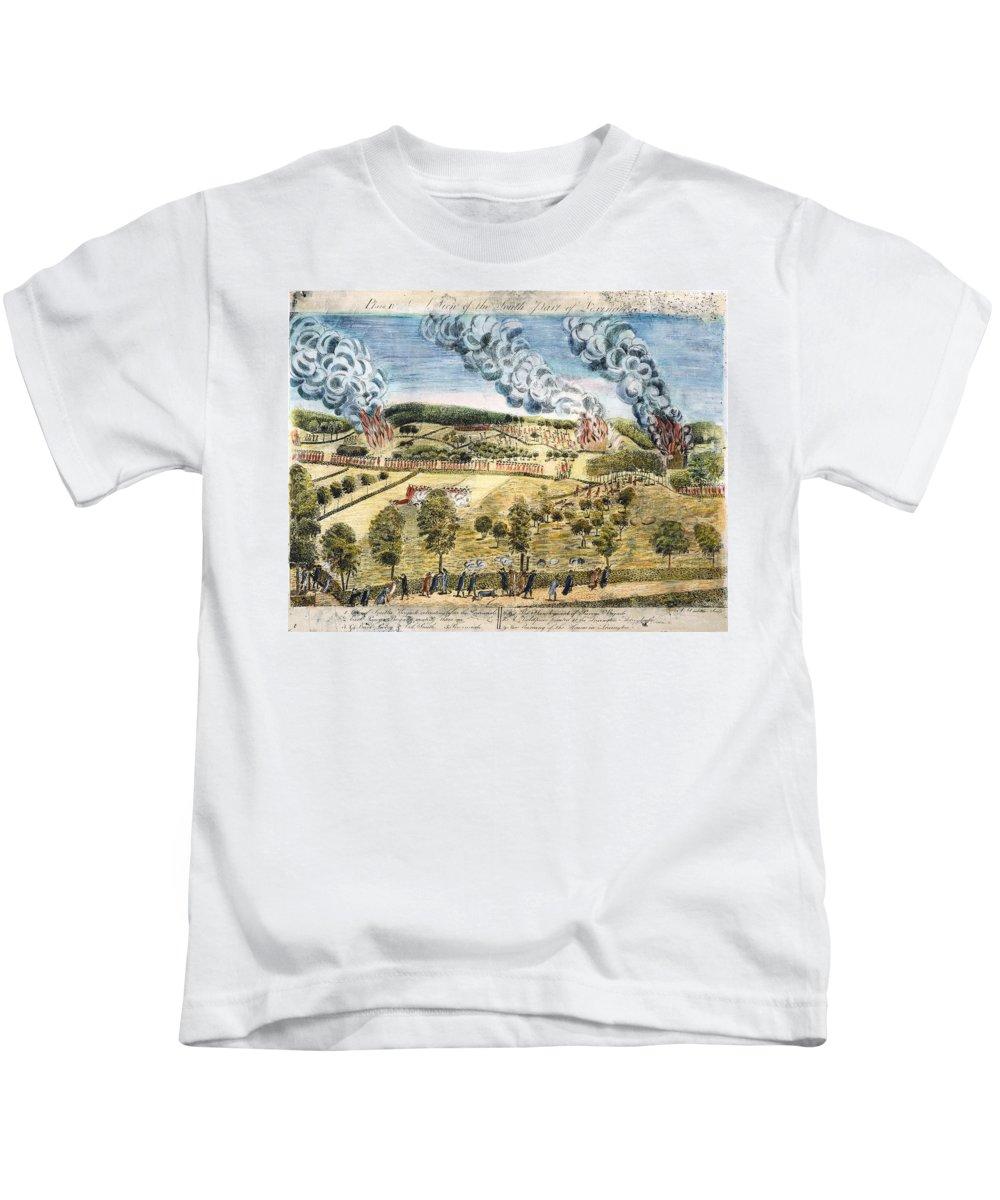 1775 Kids T-Shirt featuring the photograph Battle Of Lexington, 1775 by Granger