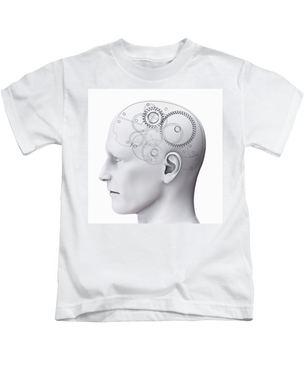 3d Visualisation Kids T-Shirt featuring the photograph Thought Mechanism by Science Picture Co