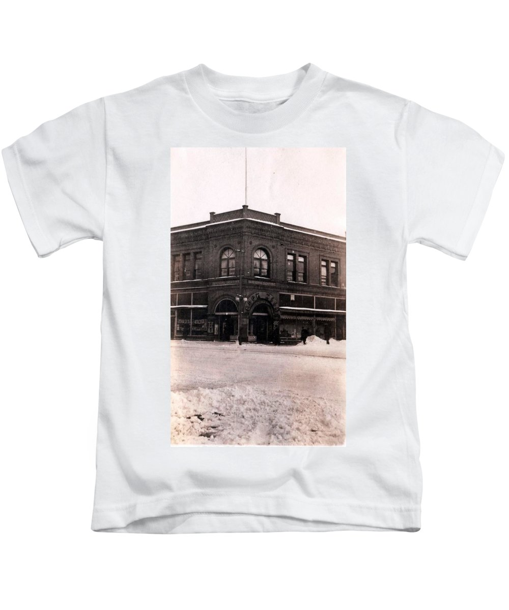 Vintage Kids T-Shirt featuring the photograph A Snow Day by Image Takers Photography LLC