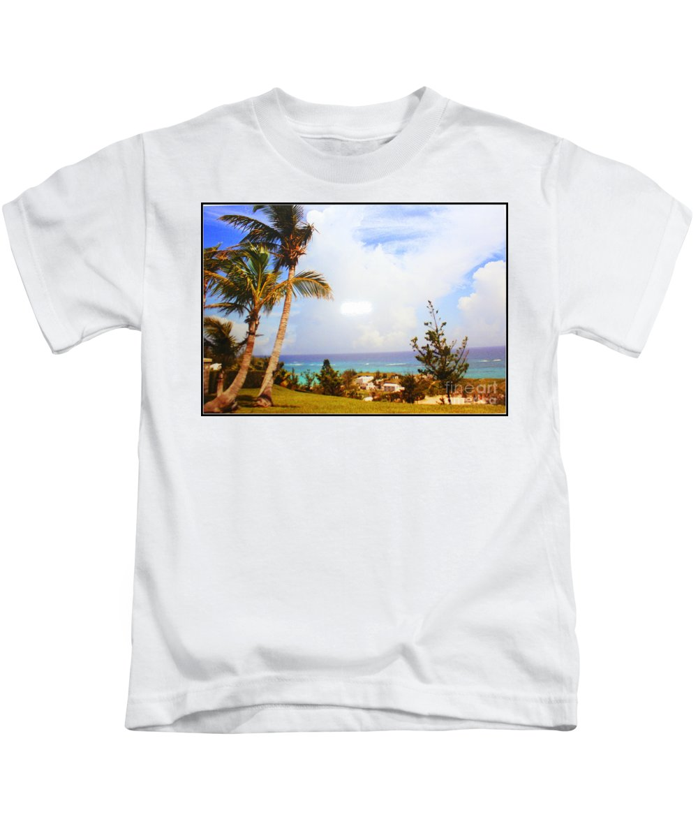 Bermuda Kids T-Shirt featuring the photograph A View Of Bermuda by Dora Sofia Caputo Photographic Design and Fine Art
