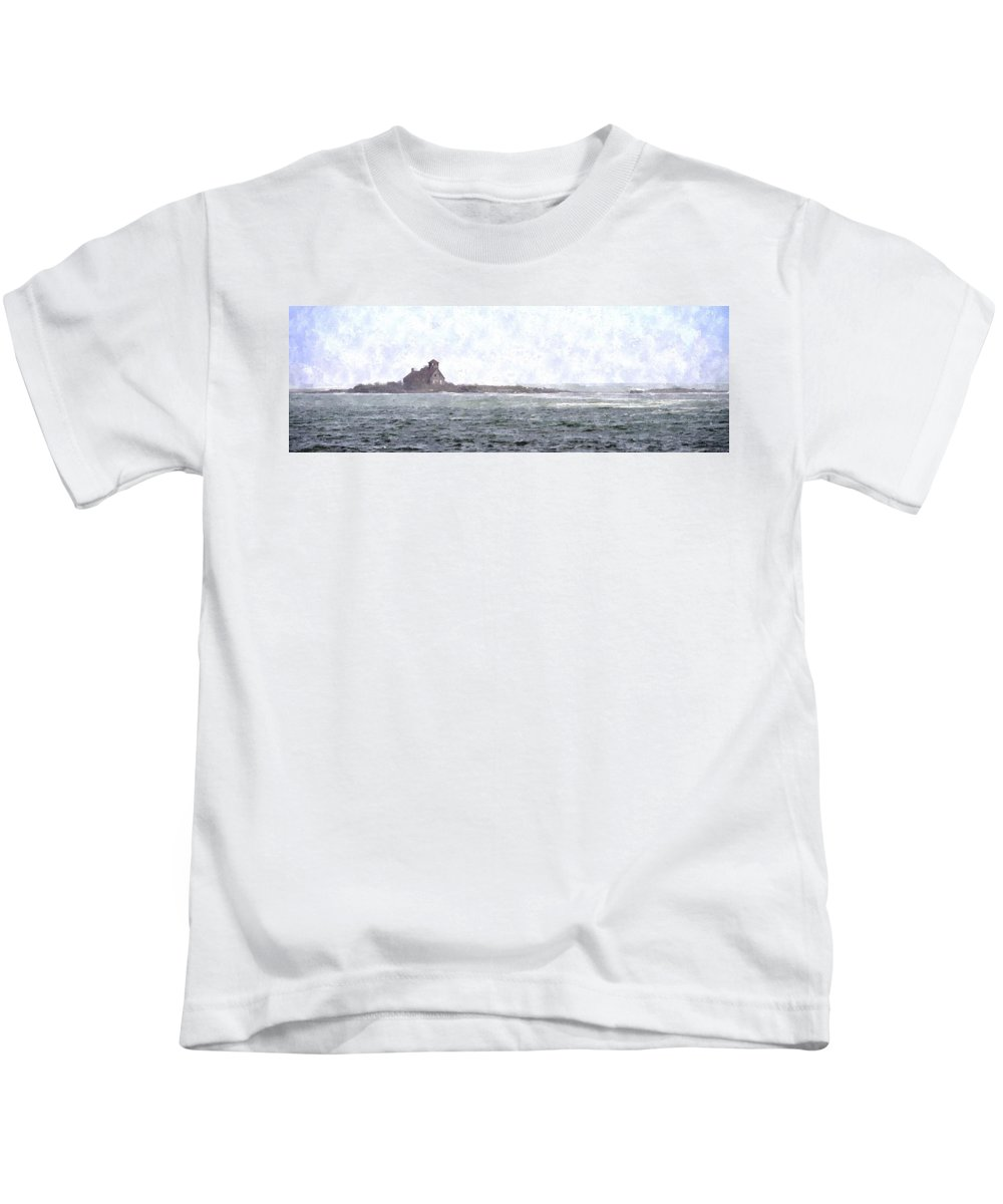 Building Kids T-Shirt featuring the digital art Abandoned Dreams Abwc by Jim Brage