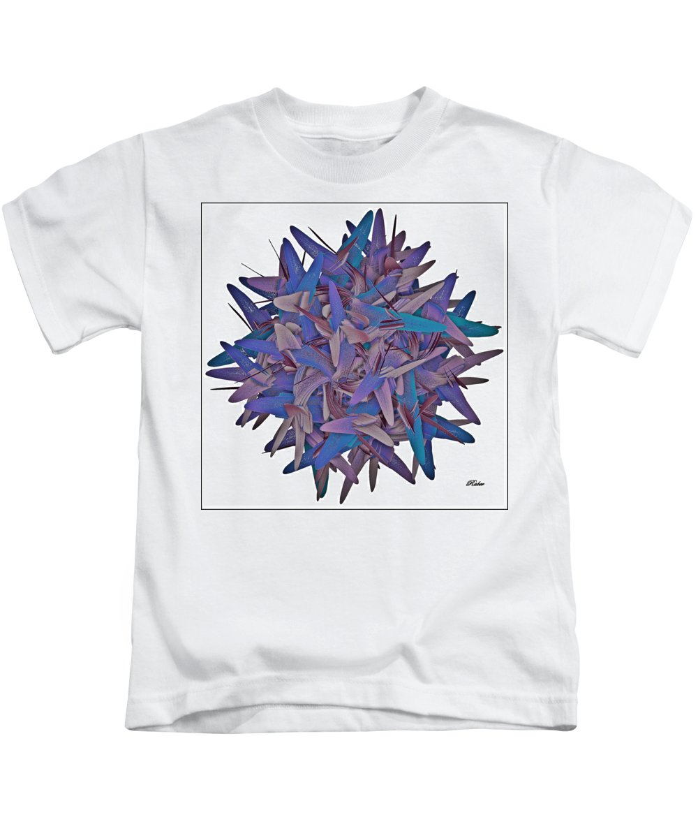 Flower Kids T-Shirt featuring the digital art Abstract Flower by Sara Raber