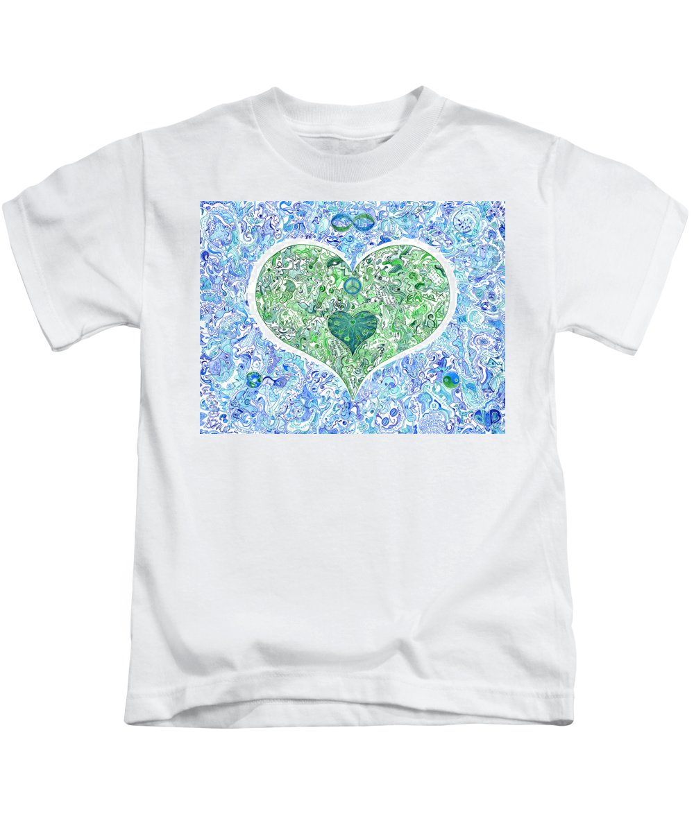 Migliore Kids T-Shirt featuring the drawing Adandi by Dave Migliore