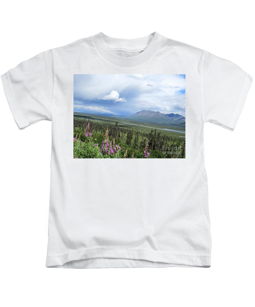 Mountain Kids T-Shirt featuring the photograph Alaska Through My Eyes by Stacey May