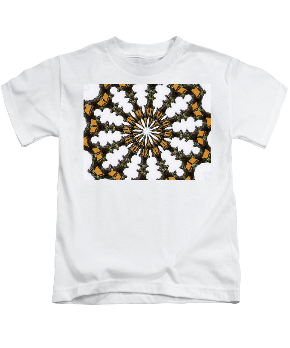 Ananasi Mandala Kids T-Shirt featuring the digital art Ananasi Mandala by Lisa Brandel
