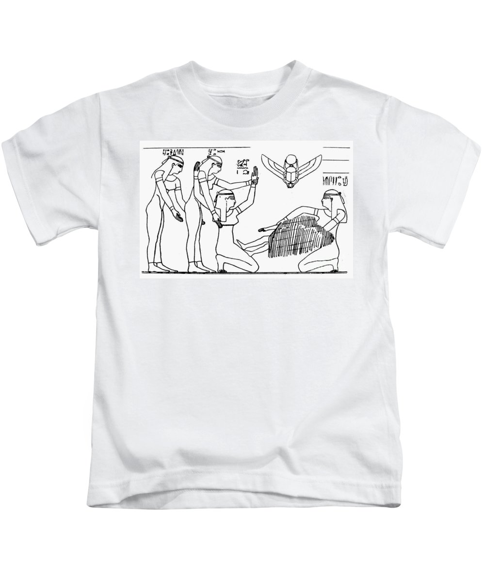 African Kids T-Shirt featuring the photograph Ancient Egypt: Childbirth by Granger