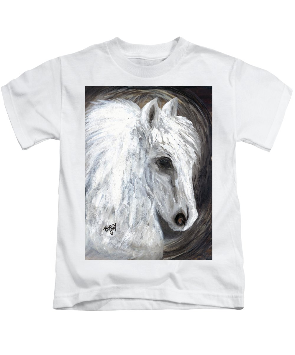 Angel Kids T-Shirt featuring the painting Angel by Barbie Batson