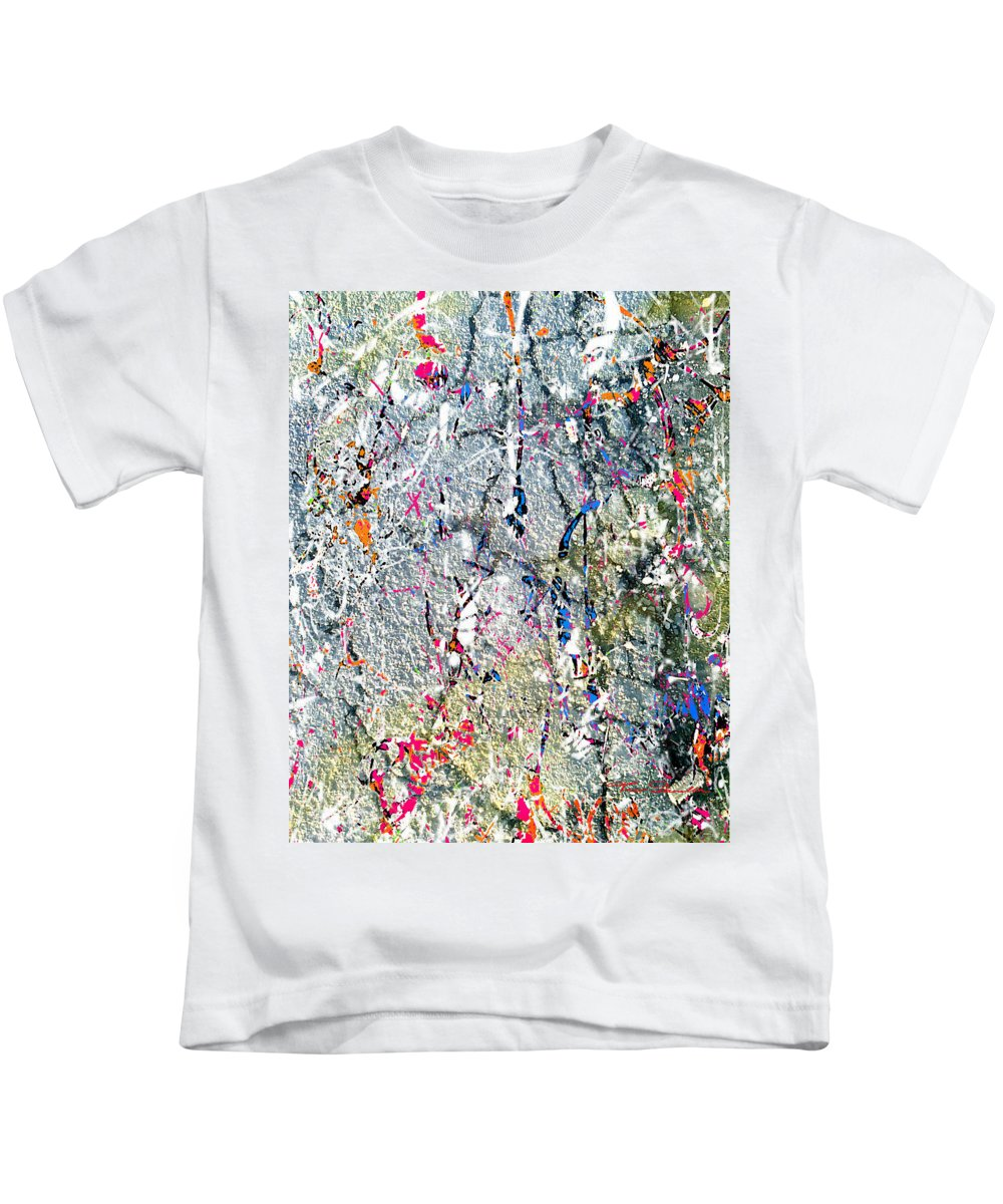 Theo Danella Kids T-Shirt featuring the painting Ap 1 by Theo Danella