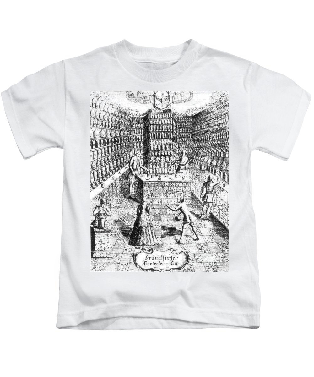 1688 Kids T-Shirt featuring the photograph Apothecary Shop, 1688 by Granger
