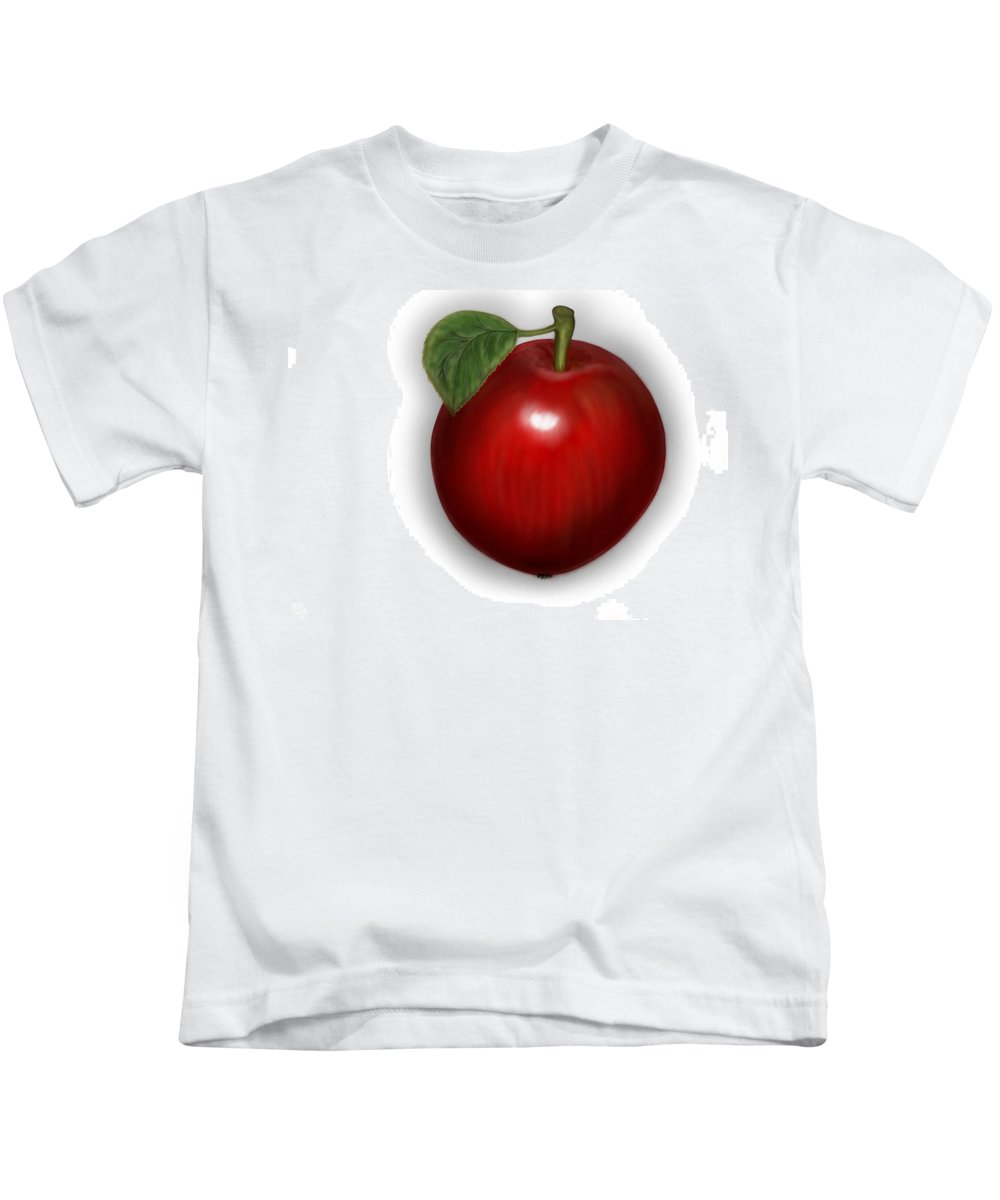 Apple Kids T-Shirt featuring the digital art Apple For You by Mathieu Lalonde