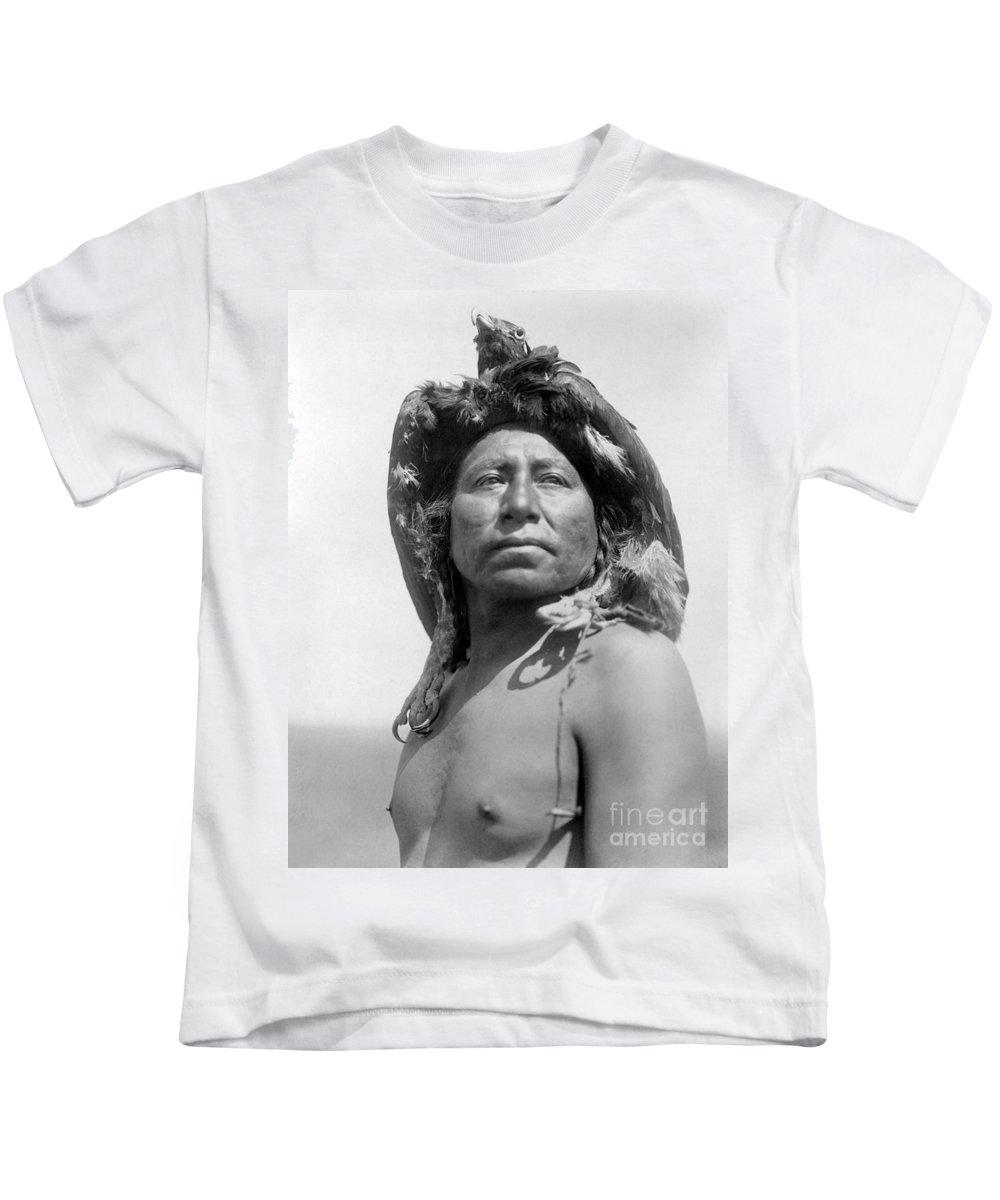 1908 Kids T-Shirt featuring the photograph Apsaroke Medicine Man by Granger