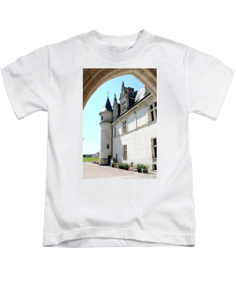 Castle Kids T-Shirt featuring the photograph Archway View Chateau Amboise by Christiane Schulze Art And Photography
