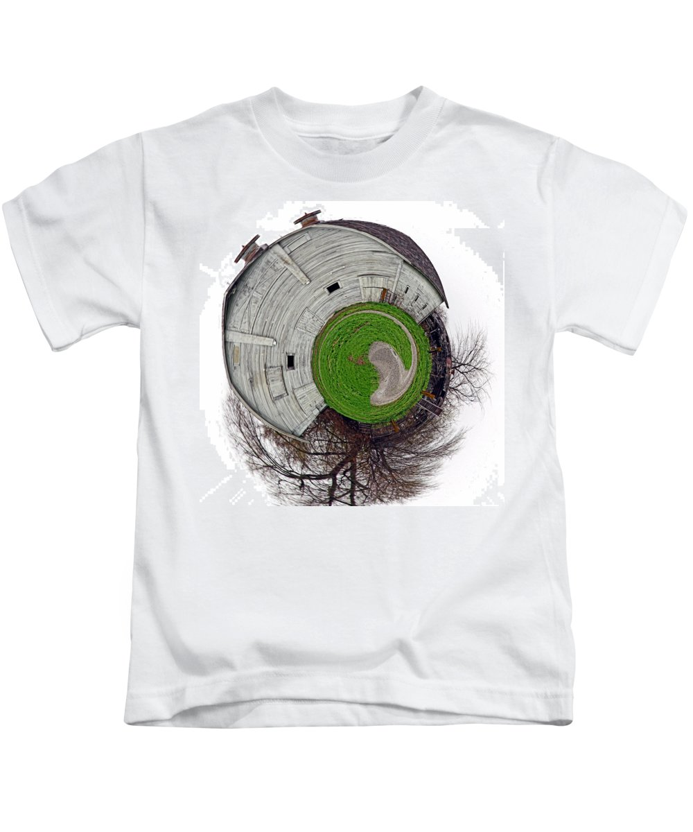 Landscape Kids T-Shirt featuring the photograph Around The Barn by Deb Buchanan