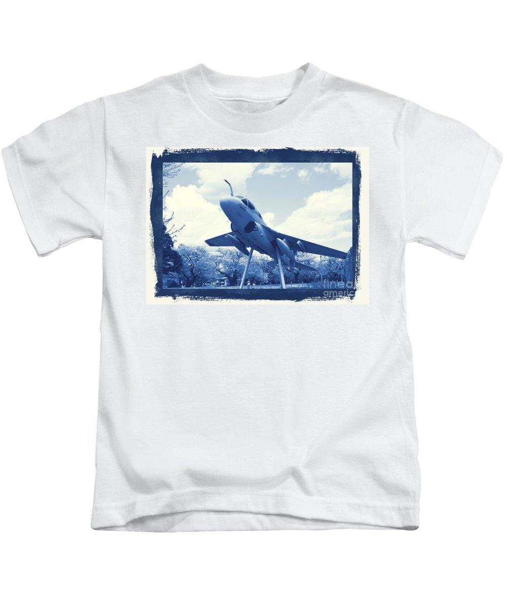 Atsugi Kids T-Shirt featuring the photograph Atsugi Prowler G by Jay Mann