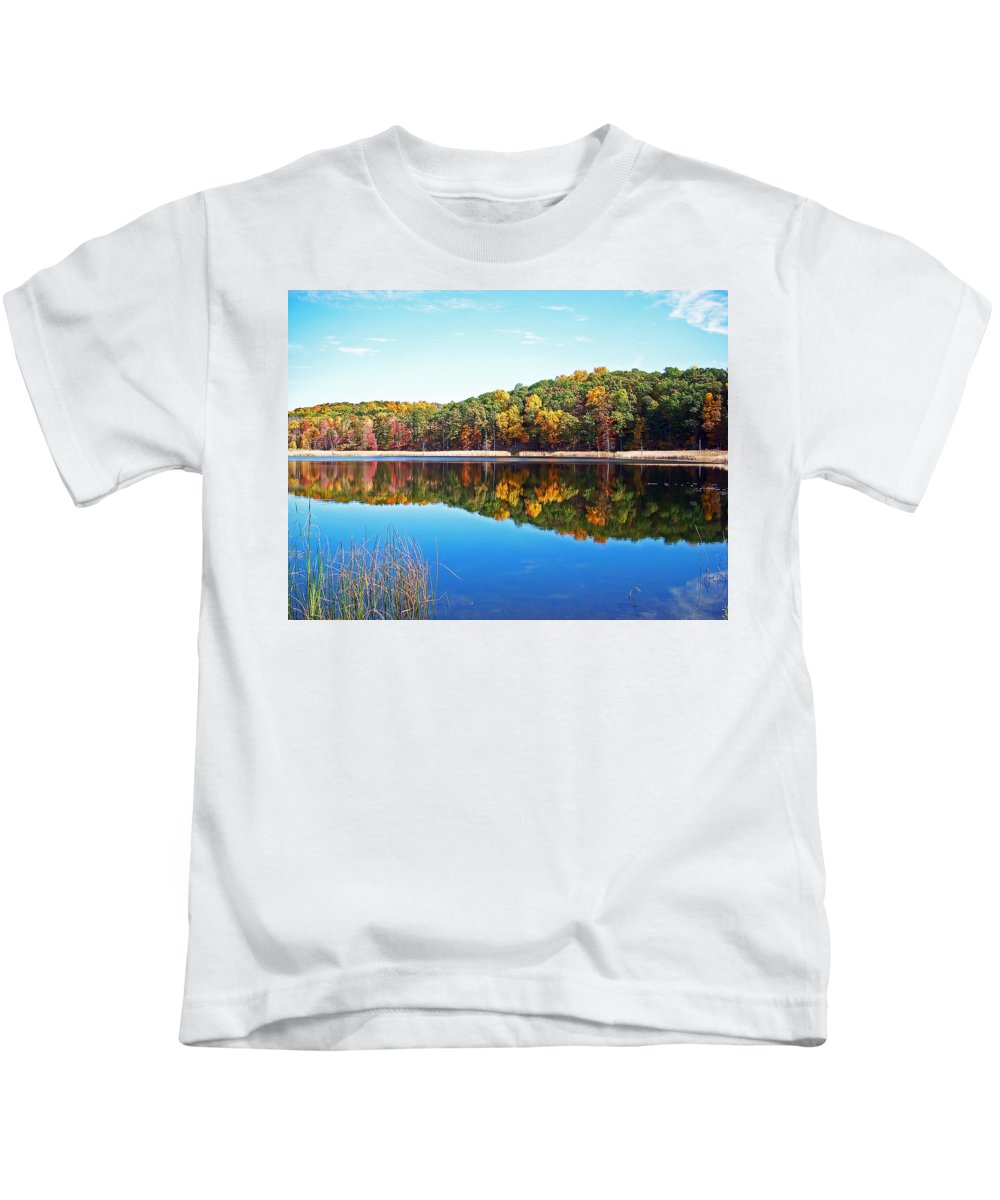 Autumn Kids T-Shirt featuring the photograph Autumn Reflection by Aimee L Maher ALM GALLERY
